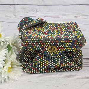 Vintage 50s WMN's Multicolored Beaded Box Bag